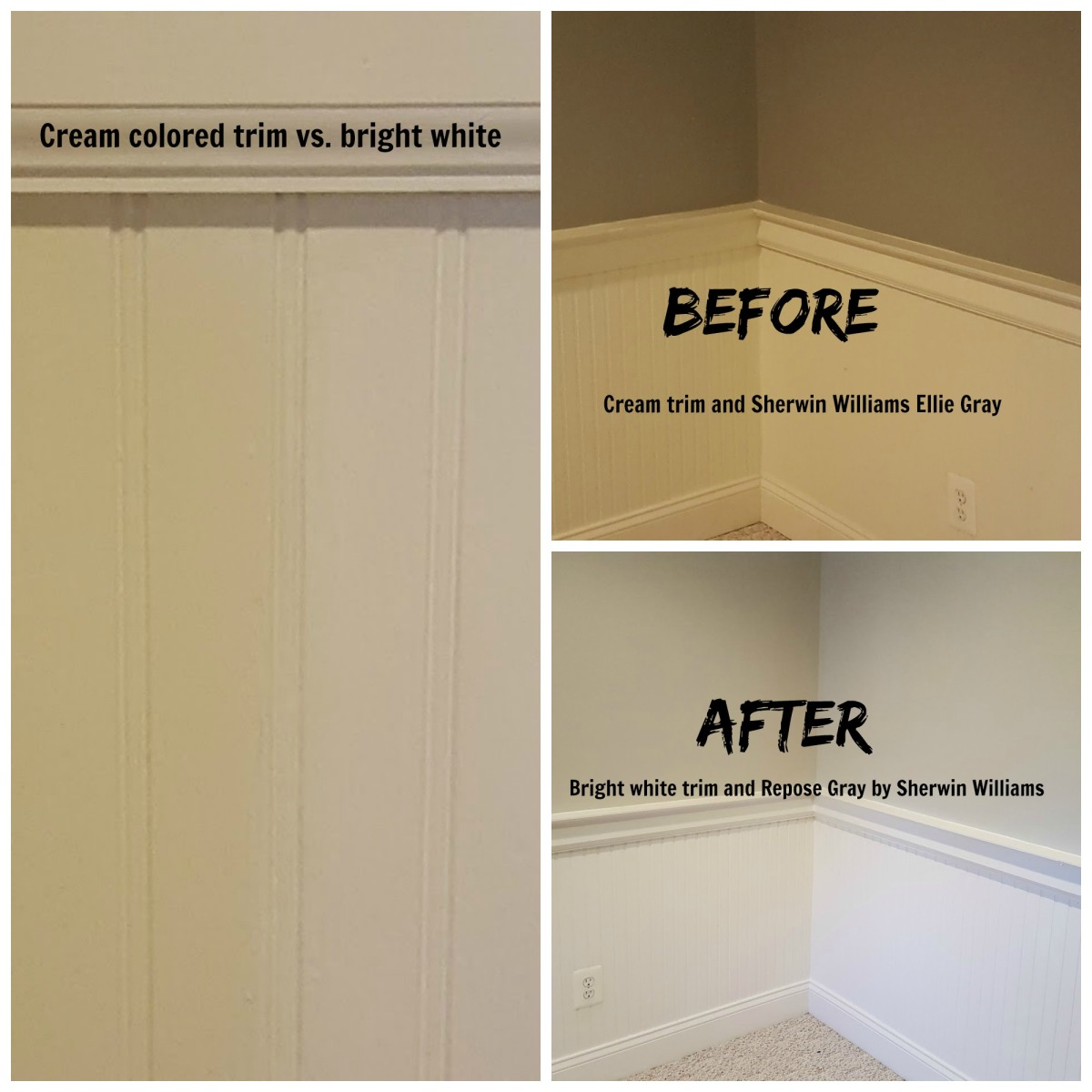 Sherwin williams ellie gray subtle changes in color